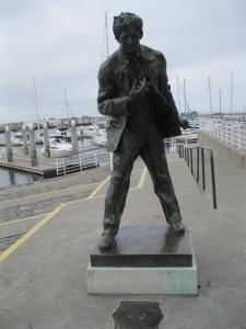 Une statue de Jack London...